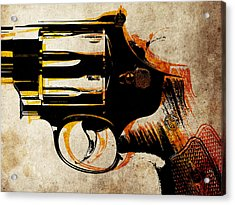 Revolver Trigger Acrylic Print by Michael Tompsett