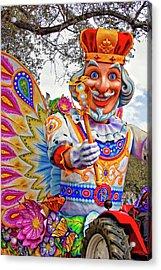 Rex Rides In New Orleans Acrylic Print by Steve Harrington