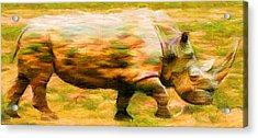 Rhinocerace Acrylic Print by Caito Junqueira