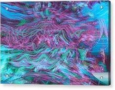 Rhythmic Waves Acrylic Print by Linda Sannuti