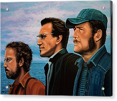 Jaws With Richard Dreyfuss, Roy Scheider And Robert Shaw Acrylic Print by Paul Meijering