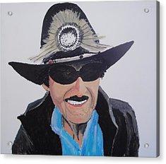 Richard Petty Acrylic Print by Stephen Ponting