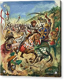 Richard The Lionheart During The Crusades Acrylic Print by Peter Jackson