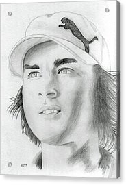 Rickie Fowler Acrylic Print by Pat Moore
