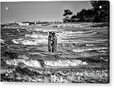 Ride The Waves Acrylic Print by Venura Herath