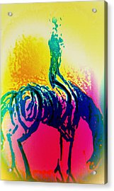 You May Think That You Don't Need Anyone But You Never Ride Alone  Acrylic Print by Hilde Widerberg