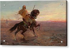 Rider In The Desert Acrylic Print by Eastern Accent