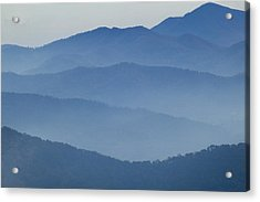 Ridgelines Great Smoky Mountains Acrylic Print by Rich Franco