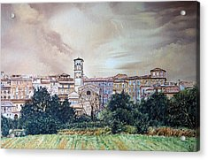 Rieti Panoramic Acrylic Print by Michel Angelo Rossi
