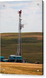 Rig On The Plains Acrylic Print by Jason Drake