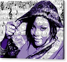 Rihanna Acrylic Print by Brad Scott