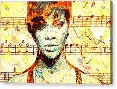 Rihanna Acrylic Print by Chandler  Douglas