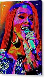 Rihanna  Acrylic Print by  Fli Art