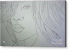 Rihanna Acrylic Print by Kristen Diefenbach