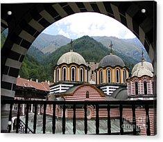 Rila Monastery Acrylic Print by Iglika Milcheva-Godfrey