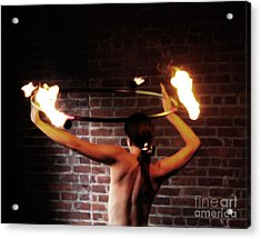 Ring Of Fire Acrylic Print by Steven  Digman