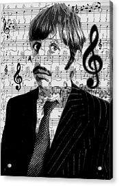 Ringo Star Of The Beatles Acrylic Print by Brad Scott