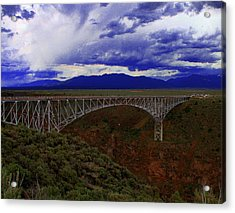 Rio Grande Gorge Bridge Acrylic Print by Neil McCarver