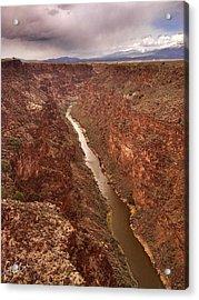Rio Grande Gorge Acrylic Print by Christine Hauber