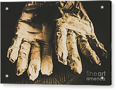 Rising Mummy Hands In Bandage Acrylic Print by Jorgo Photography - Wall Art Gallery