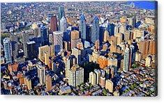 Rittenhouse Square Park And Philadelphia Skyline Acrylic Print by Duncan Pearson