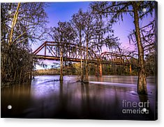 River Bridge Acrylic Print by Marvin Spates