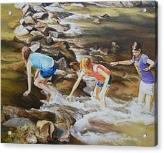River Rats Acrylic Print by George Kramer
