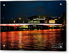 River Thames, In London Acrylic Print by Cyril Jayant