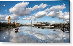 River Thames London Acrylic Print by Adrian Evans