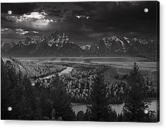 River Thru The Mountains Acrylic Print by Andrew Soundarajan
