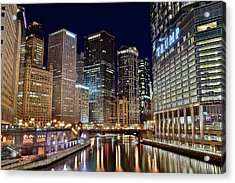 River View Of The Windy City Acrylic Print by Frozen in Time Fine Art Photography