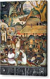 Rivera: Pre-columbian Life Acrylic Print by Granger