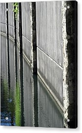 Riverwalk Reflections Acrylic Print by Tony Grider