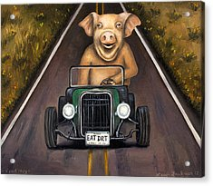 Road Hog Acrylic Print by Leah Saulnier The Painting Maniac