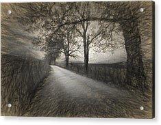 Road Not Traveled Iv Acrylic Print by Jon Glaser