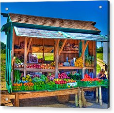 Road Side Fruit Stand Acrylic Print by William Wetmore