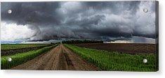 Road To Nowhere - Tornado Acrylic Print by Aaron J Groen