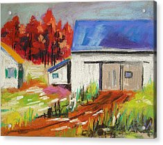 Road To The Barn Acrylic Print by John Williams