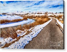 Road To The Mountains Acrylic Print by David Millenheft