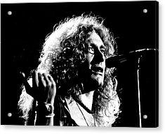 Robert Plant 1975 Acrylic Print by Chris Walter