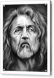 Robert Plant Acrylic Print by Greg Joens