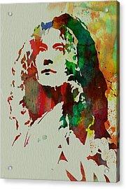 Robert Plant Acrylic Print by Naxart Studio