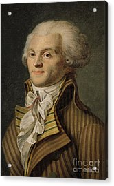 Robespierre Acrylic Print by French School