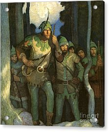Robin Hood And His Merry Men Acrylic Print by Newell Convers Wyeth