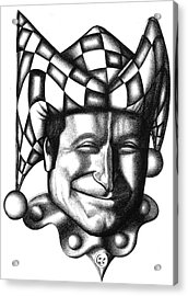 Robin Williams Acrylic Print by Robert Shoemaker IV