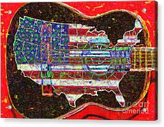 Rock And Roll America 20130123 Red Acrylic Print by Wingsdomain Art and Photography