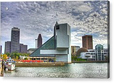 Rock And Roll Hall Of Fame Acrylic Print by Robert Pearson