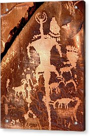 Rock Art Of The Ancients Acrylic Print by The Forests Edge Photography - Diane Sandoval