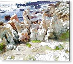Rock Formation Bettys Bay Acrylic Print by Jan Hattingh