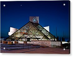 Rock Hall At Night Acrylic Print by At Lands End Photography